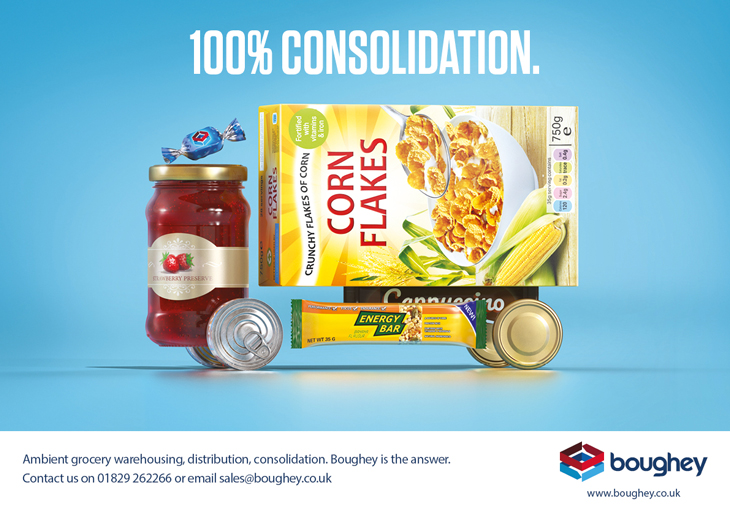 Conceptual advert created by Intermedia – the B2B marketing agency – to promote Boughey Distribution's consolidation service