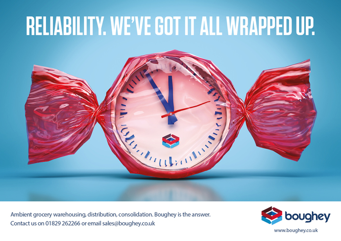 Conceptual advert created by Intermedia – the B2B marketing agency – to promote Boughey Distribution's reliability