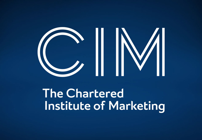 Chartered Institute of Marketing logo on blue background