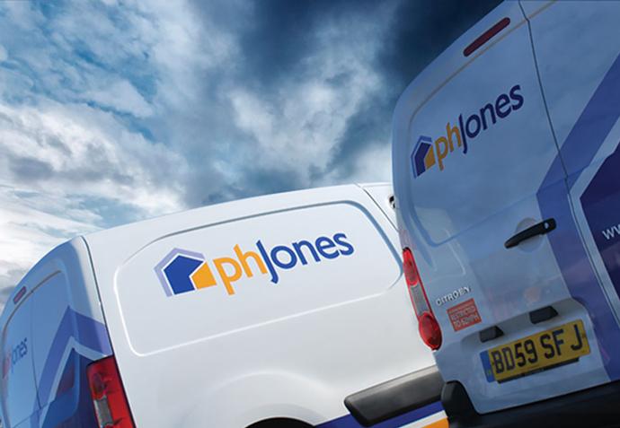 PH Jones vehicle livery following a rebrand