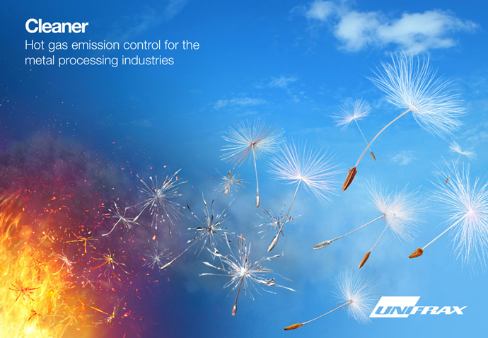 Unifrax's 'Cleaner' advert featuring the metal dandelion concept created by the advertising team at Intermedia