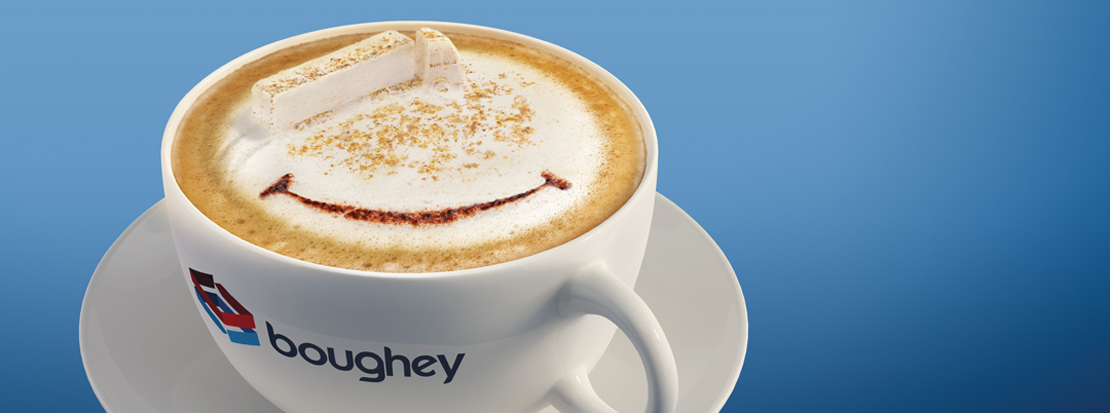 Boughey Distribution 'cappuccino truck' creative concept used in the adverts created for one of their annual campaigns