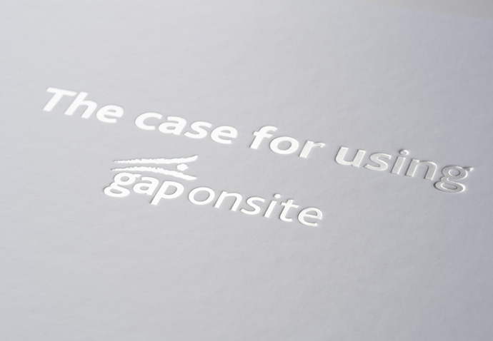 Box containing assets that communicate the value proposition derived for Gap Personnel through strategic marketing planning
